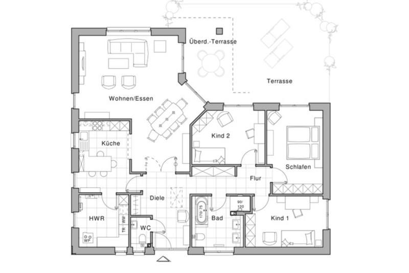Bungalow 140 Qm : Bungalow KFW 40 von Viebrockhaus, zum Relaxen in Top ...